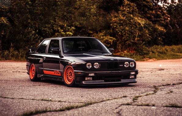 Picture BMW, black, E30