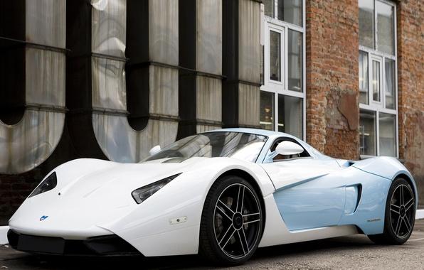 Picture supercar, white, blue, Marusya, MaRussia