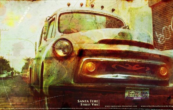 Photo wallpaper pickup, truck, santa tere street vibe 2 wall
