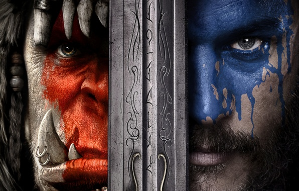 Picture Action, Red, Fantasy, Warcraft, Blizzard, Orc, Blue, Legendary Pictures, Wolf, Eyes, Year, EXCLUSIVE, Activision, Knight, …