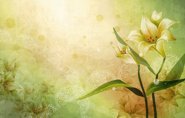 Picture flowers, patterns, figure, vector, art
