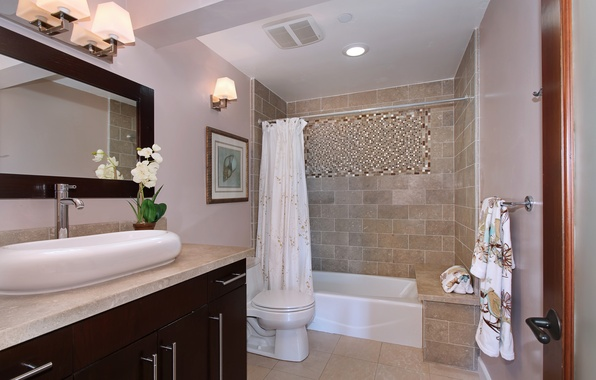 Picture photo, Design, Lamp, Bathroom, Interior