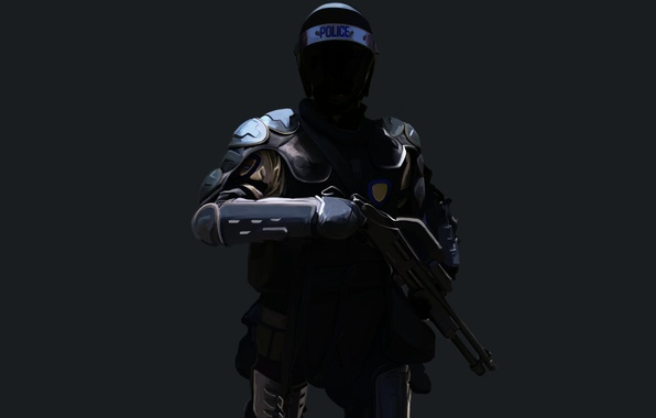 Picture weapons, background, Art, equipment, police