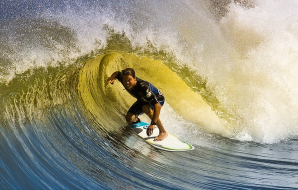 Picture wave, male, Board, surfing