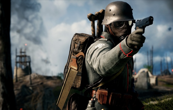 Picture gun, weapons, war, the game, soldiers, German, Electronic Arts, Battlefield 1