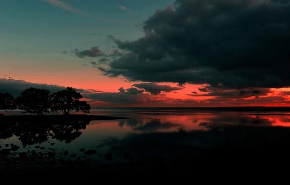 Picture sunrise, Australia, Nudgee Beach