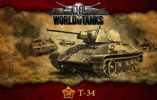 Picture USSR, tanks, T-34, WoT, World of Tanks
