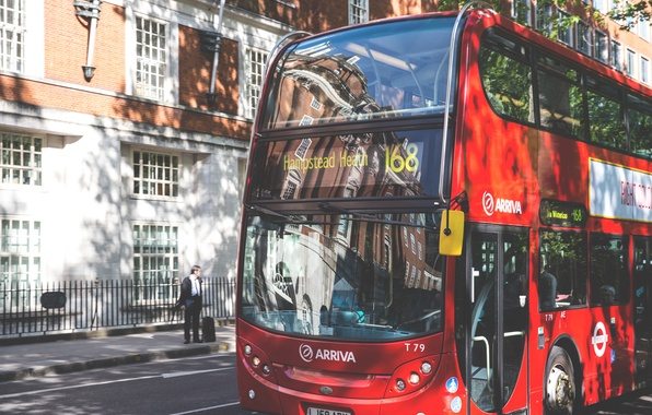 Picture red, classic, London, bus