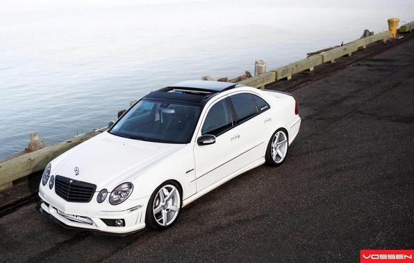 Picture Machine, Mercedes, Mercedes, Benz, Car, Car, Beautiful, White, Wallpapers, Tuning, Beautiful, Wallpaper, E Class, Vossen, …