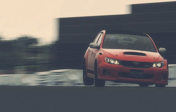 Picture auto, speed, track, Subaru