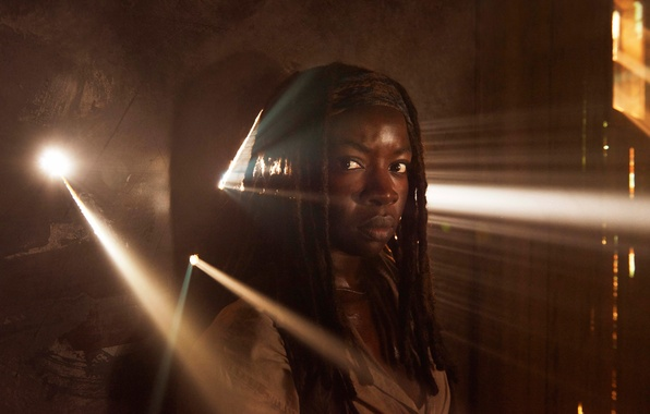 Photo wallpaper promo, The Walking Dead, Michonne, Danai Gurira, the fifth season