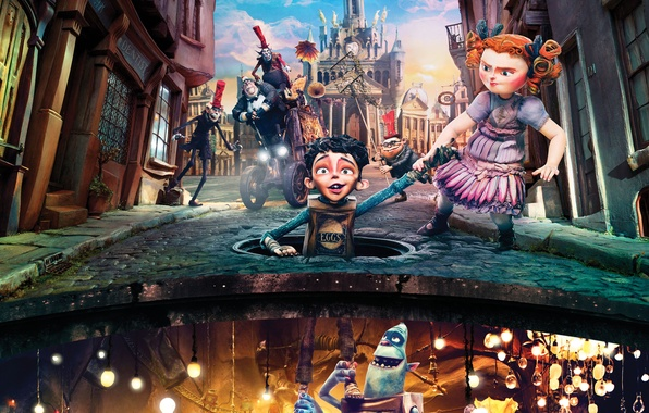 Picture cartoon, the situation, fantasy, characters, The Boxtrolls, The boxtrolls