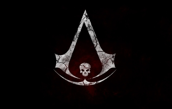 Wallpaper Skull Flag Symbol Assassin Assassins Creed Iv Black