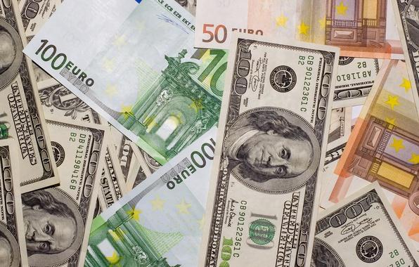 Picture money, Euro, dollars, money, dollars, euro