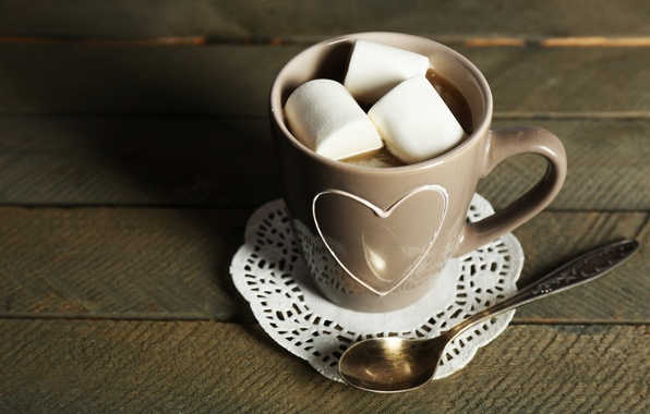 Picture chocolate, hot, cup, chocolate, cocoa, cocoa, marshmallows, marshmallow