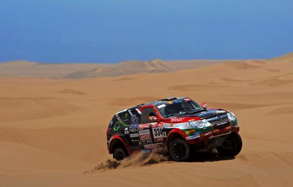 Picture Sand, Auto, Sport, Desert, Machine, Race, Opel, Opel, Rally, Dakar, Dakar, SUV
