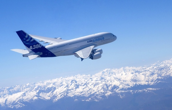 Picture the sky, aviation, the plane, Airbus A380
