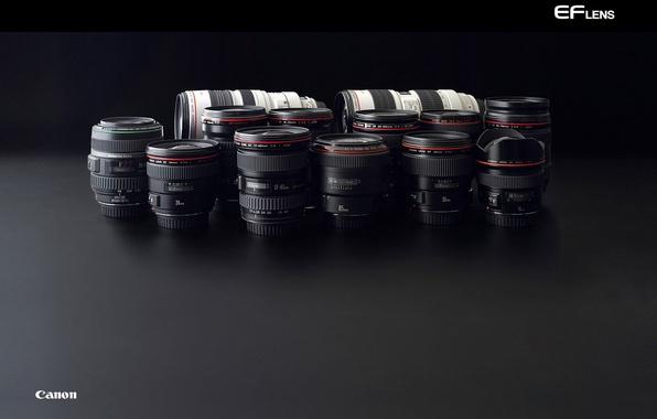 Picture technique, lens, black, Canon, lenses, series L