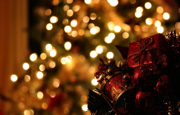 Picture decoration, lights, photo, mood, holiday, magic, Wallpaper, toys, new year, Christmas, the evening, tree, garland, …