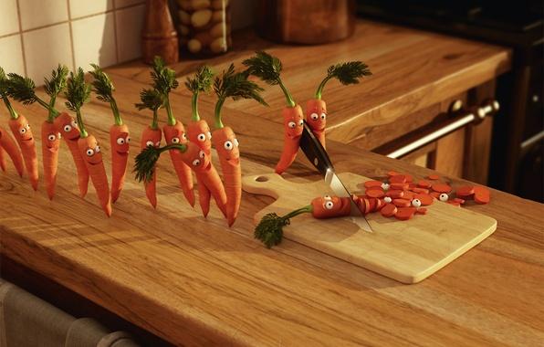 Picture joy, carrot, murder, kitchen