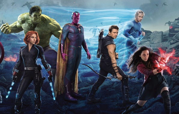 Picture Scarlett Johansson, Vision, Heroes, Hulk, the, Iron Man, Captain America, Super, Thor, Black Widow, Robert …