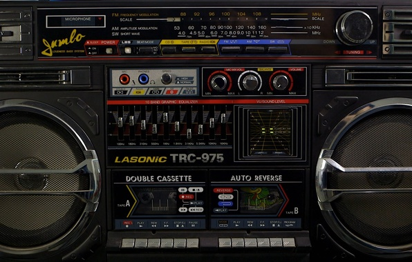 Wallpaper Wallpaper, Retro, Boombox, LASONIC TRC-975 ...