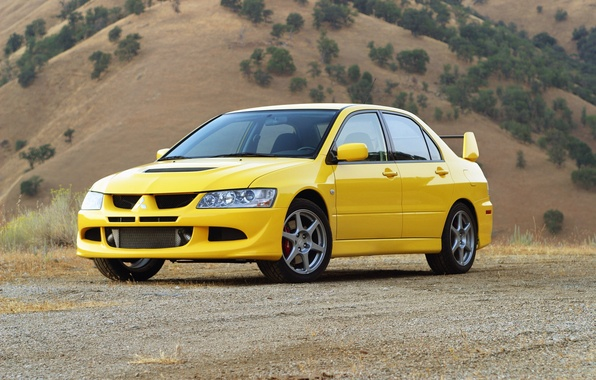 Picture auto, yellow, Wallpaper, Mitsubishi, Lancer, car, Evolution VIII