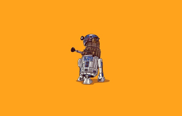 Photo Wallpaper R2D2 Dalek Far R2 D2 Doctor Who Star