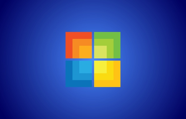 Picture computer, orange, blue, yellow, green, blue, cubes, win, windows 8