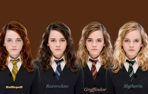 Picture Emma Watson, Hermione, faculties, slytherin, Hogwarts, Ravenclaw, Hufflepuff, Gryffindor, Ravenclaw, Gryffindor, Puffenduya, Slytherin