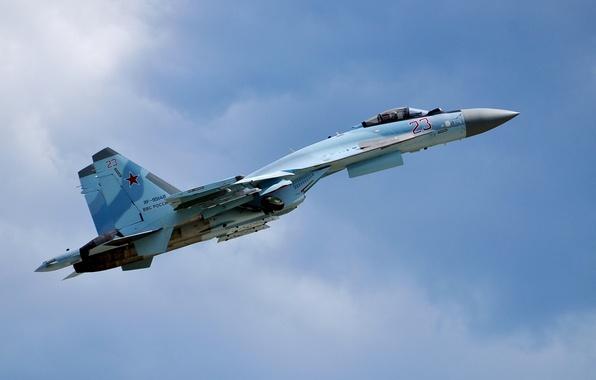 Picture fighter, Su-35, jet, multipurpose, super-maneuverable