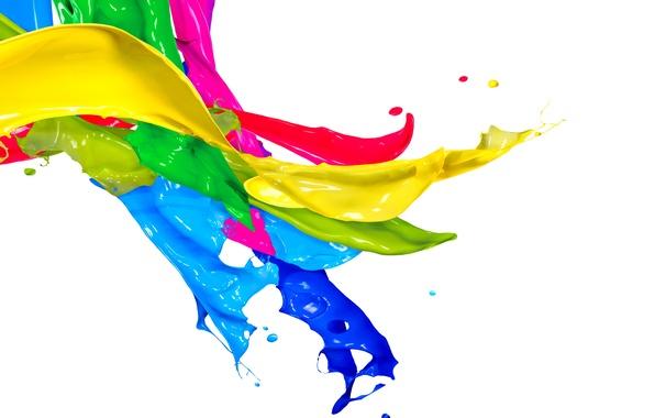 Picture drops, squirt, paint, colors, design, splash, paint