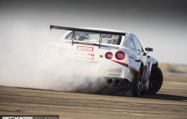 Picture smoke, drift, Nissan, speedhunters, NISMO-GT, The World's Fastest Drift Car