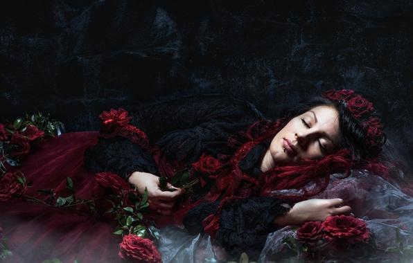 Picture Dark, Beauty, Sleeping
