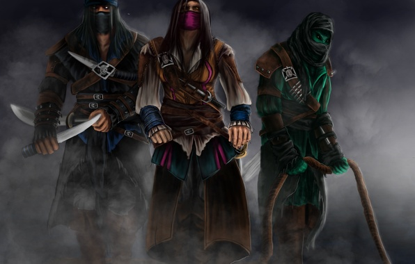 Picture Rain, Assassins, Sub-Zero, Kombat, Mortal, Reptile