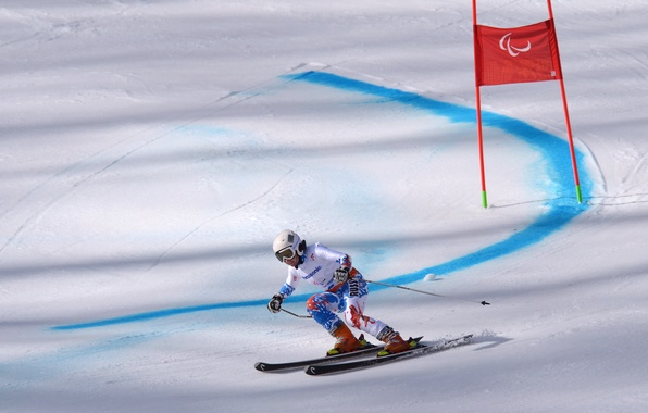 Picture snow, the descent, speed, track, Russia, Russia, Sochi 2014, Sochi 2014, Paralympic games, Paralympic games, …
