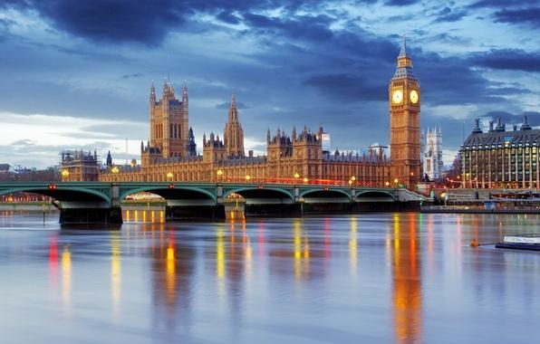 Picture England, London, Big Ben, London, England, Big Ben, Thames River, Westminster Abbey
