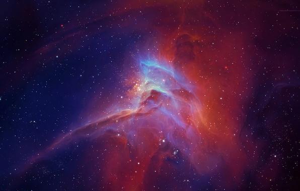 Picture nebula, glow, stars