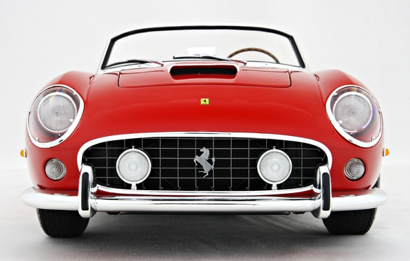Picture Red, logo, Retro, The hood, Ferrari, 250, Model