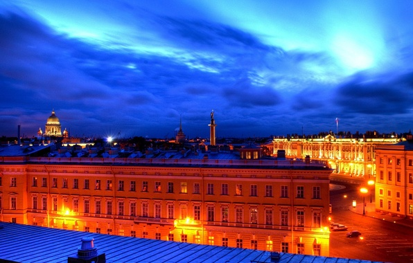 Picture Peter, roof, Saint Petersburg, white nights