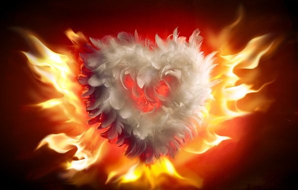 Picture love, fire, flame, heart, fire, love, heart, flames, Valentines Day