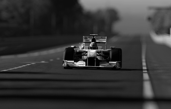 Picture photo, sport, race, black and white, formula 1, the car