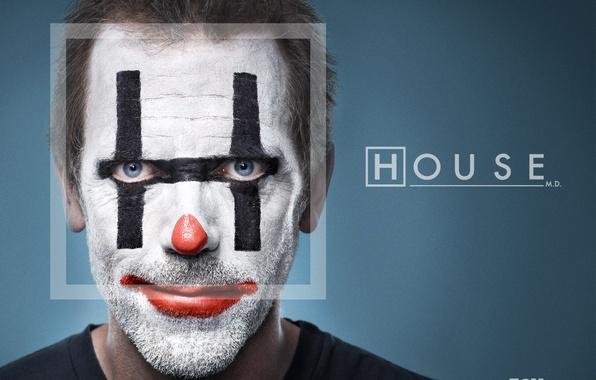 Picture clown, House, Dr. house, Hugh Laurie