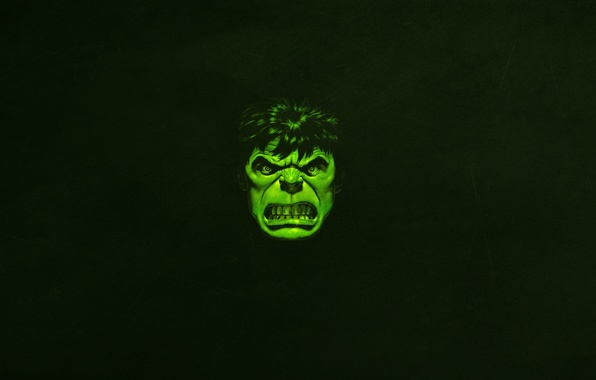 Picture face, green, minimalism, evil, Hulk, marvel, comic, hulk