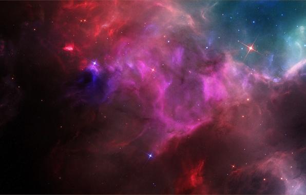 Picture space, nebula, glow, stars, bright, Space nebula