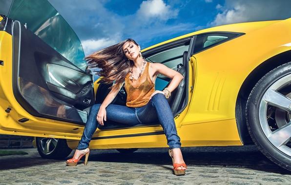 Picture jeans, Chevrolet, Camaro, Chevrolet Camaro, Helena De Castro Rios