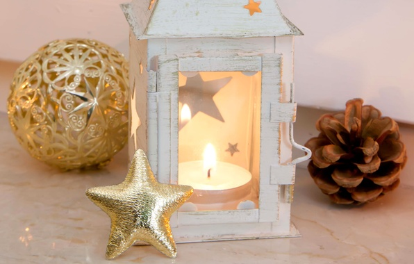 Picture toy, star, ball, candle, New Year, Christmas, flashlight, gold, bump, Christmas, asterisk, holidays, New Year, …