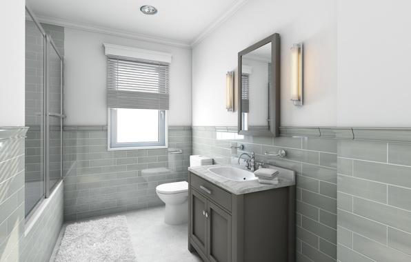 Picture design, style, photo, interior, bathroom, hi-tech, 3D graphics