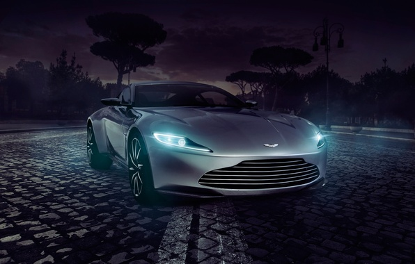 Picture Concept, Aston Martin, Light, Front, Supercar, Spectre, DB10
