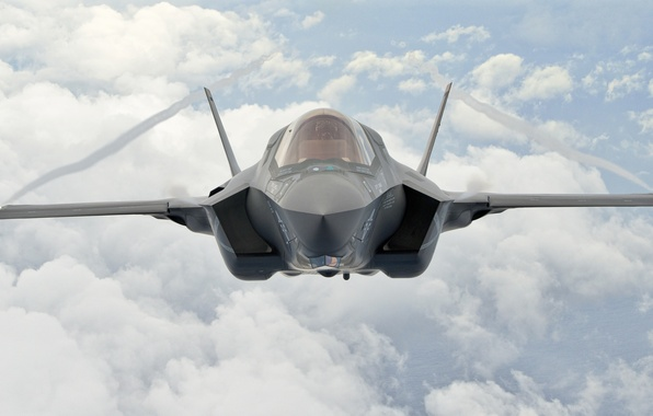 Picture the sky, flight, fighter, pilot, bomber, F-35B, Lockheed Martin